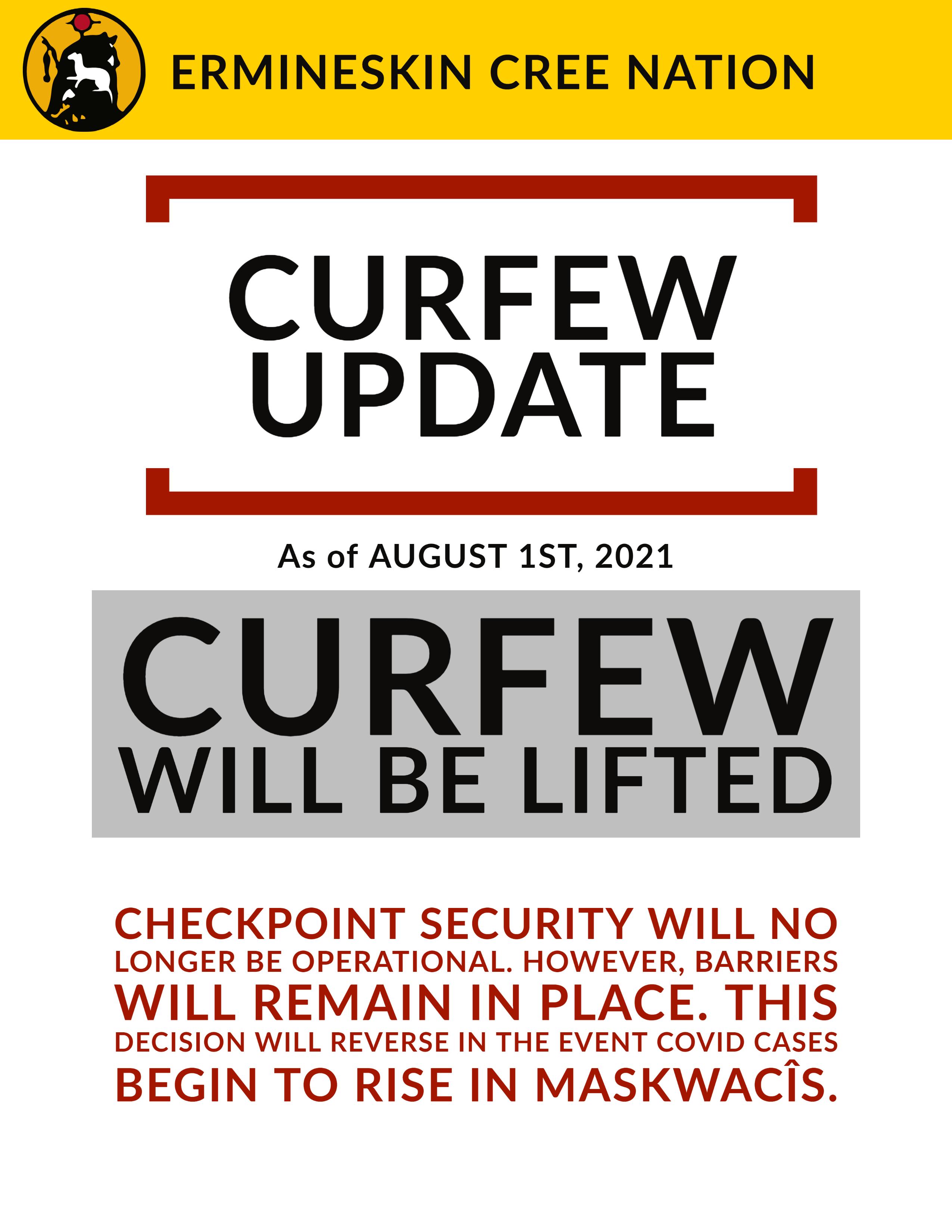 curfew up;date